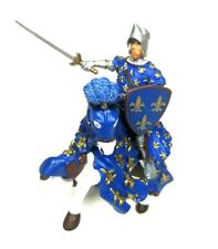 Papo Prince Philippe Blue & Horse Medieval Knight Action Figure 2006