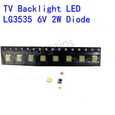 LG TV Backlight LED Diode SMD 3535 3537 6V 2W Cool White Sharp Vizio RCA 10PCS