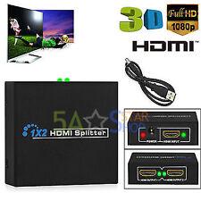 1 Entré 2 Sortie répartiteur HDMI Amplificateur 2 Voies Boîtier De Commutateur