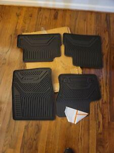 2013 thru 2017 Ford C-Max OEM Genuine Black Rubber All Weather Floor Mat 4pc Set