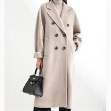 2020 Fashion Women Long Sleeve Blazer Work Jacket Formal Overcoat Woolen Trench