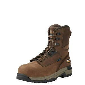 """Ariat Mastergrip 8"""" H20 Waterproof Brown Leather Composite Toe Cap Safety Boots"""