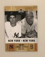 Joe DiMaggio 2001 Upper Deck Legend of New York #155 New York Yankees HOF