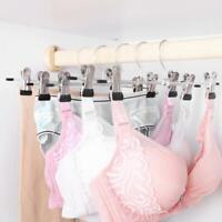 2/5/8X Metal Clip Coat Hangers Clothes Closet Pant Trousers Skirt Non-slip Rack