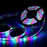 5M  RGB LED Strip Lights 3528 SMD 300LEDs Flexible For Home Car Party Home Decor