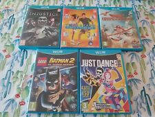 LOTE N 1 NINTENDO WII U WIIU WIU INJUSTICE JUST DANCE LEGO BATMAN AVIONES YOUR