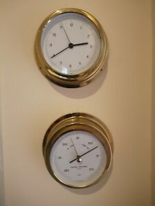 nautical collectables CLOCK & BAROMETER.
