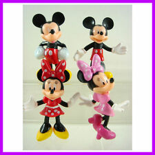 NEW Mickey Mouse Minnie Mouse Clubhouse Cake Topper 7cm Action Figures 4 pcs SET