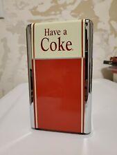 Vintage COCA COLA Napkin Holder Dispenser Metal Chrome soda machine diner decor