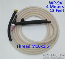 WP-9V Tig Welding Torch Silica Gel Hose 4 Metre Super Soft and Flexible M16x1.5