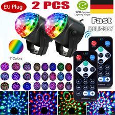 2X RGB Bühnenbeleuchtung Disco Lichteffekt LED Discokugel DJ Party Fernbedienung