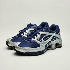 Nike Shox Turbo 8 Midnight Navy Blue Metallic Silver Youth Sz 4.5, Womens Sz 6.5