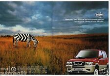 Publicité advertising 2001 (2 pages) Nissan Terrano II