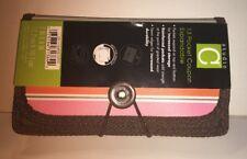 Studio C 13 Hot Chocolate Pocket Expandable Coupon Holder Striped Design