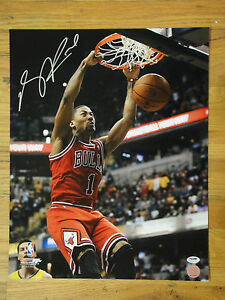 DERRICK ROSE PSA/DNA SIGNED 16X20 PHOTO MINT AUTOGRAPH, CHICAGO BULLS, MVP AUTO
