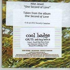 (CV411) Nite Jewel, One Second Of Love - 2012 DJ CD