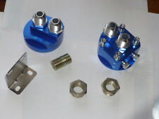 """Remote Oil Filter Adaptor - JACKMASTER - AN10 or AN8 fittings 3/4"""" centre nut"""
