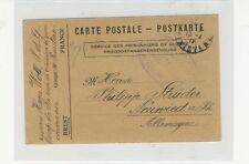 Französische Postkarte für Kriegsgefangene 1917 sehr selten! (B00085)