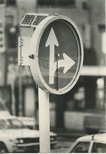 CARTE POSTALE PHOTO MATSUMOTO / TOKYO 1980 PANNEAU DE CIRCULATION SOLAIRE