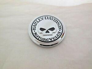 Harley Davidson Skull Totenkopf Universal Emblem Medallion chrom rund 14100749MP