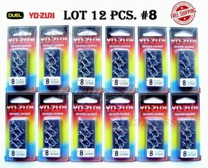 Treble Hook LOT 12 pcs pack #8 YO ZURI DUEL Japan Saltwater outbarb+split rings