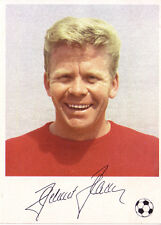 CALCIO KNORR AUTOGRAFO immagine WM Inghilterra 1966 Helmut Haller AC Bologna
