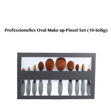 Contour Pinselset Oval Make Up Foundation Brushes 10tlg Zahnbürste Design Black