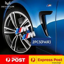 2pcs BMW M Sport Emblem Chrome Side Fender Wing Badge Sticker BMW M3 M5 M6 X1 X3