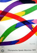 """1972 Olympische Speiel Munchen Vintage Olympic Poster 40"""" X 25""""  Piero Dorazio"""