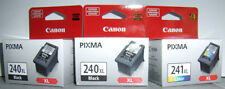 CANON PIXMA TWO PG 240XL & ONE CL 241XL OEM INK CARTRIDGE MG2120 3120 MX512