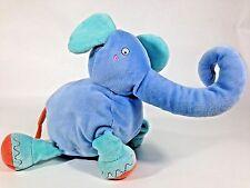"Blue Elephant Plush Multi Color Stuffed Animal 12"" Baby Boy Toy"