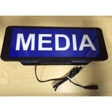 LED Univisor MEDIA  Sign visor illuminated flashing with Remote Control