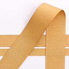 Grosgrain Ribbon 16mm Width - Choose Your Shade - per Metre Gold