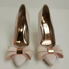Ted Baker Shoes UK 3 EU 36 Pink Court High Heel Pointed Toe Work Chic 331826