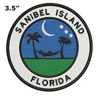 Sanibel Island Florida Embroidered Patch Iron / Sew-On Souvenir Gear Applique