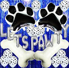 LETS PAWTY DOG PUPPY PAW BONE BIRTHDAY CATT BALLOON DECORATION SUPPLIES PARTY