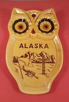 "Vintage Alaska Ashtray Or Wall Decoration 7"" Tall 4  1/2 Wide"