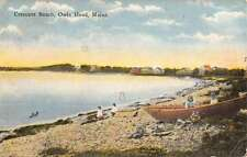Owls Head Maine Crescent Beach Waterfront Antique Postcard K60552