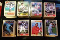 1987 Topps Baseball Complete Set 792 Bonds, Bo Jackson, Canseco, Larkin RCs