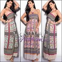 NEW SEXY MAXI DRESS 6 8 10 12 14 LONG SUMMER DRESSES XS S M L XL print sundress