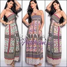 SEXY MAXI DRESS 6 8 10 12 14 LONG SUMMER women casual beach LOOSE XS S M L XL AU