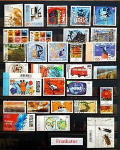 BRD Briefmarken 2020/21 papierlos, gestempelt teils mit Rand