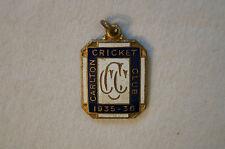 Cricket - Vintage 1935 - Carlton Cricket Club Member's Badge - Pre WW II
