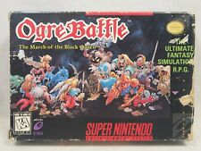 Ogre Battle March of the Black Queen (Super Nintendo | SNES) Authentic BOX ONLY