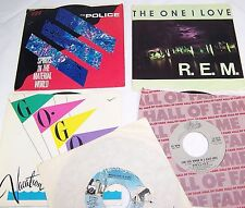 Police,Spirits,R.E.M.The One I Love,Hollies,Long Cool Woman,Go Go's 45 Records