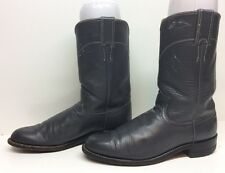 WOMENS JUSTIN COWBOY LEATHER GRAY BOOTS SIZE 7.5 A