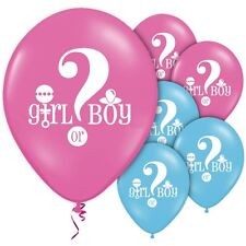 """Baby Shower 12"""" Latex Balloons Gender Reveal Boy or Girl New Baby Helium Quality"""