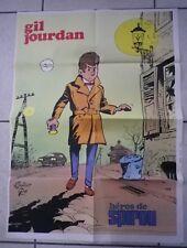 gil jourdan tillieux gos  poster journal spirou supplément n° 1832 année 1973