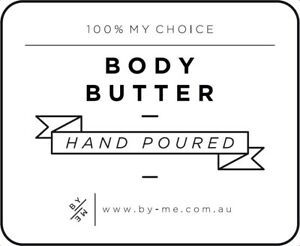 SMALL Body Butter Decal - White (removable/ reusable/ waterproof label)