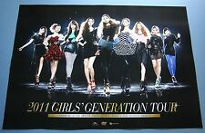 Girls Generation (SNSD) 2011 Tour UNFOLD OFFICIAL POSTER * HARD TUBE CASE*